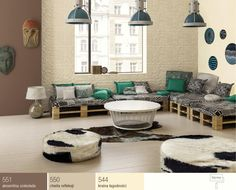 Brązy wsalonie oraz meble zpalet euro Classic Furniture, Living Furniture, Room Colors, Pallet Projects, Beautiful Homes, Shabby, Living Room, Ideas, Inspiration