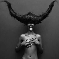 Photographer Unknown - Greek Mythology - Minotaur Concept - Fashion Photography - Hair