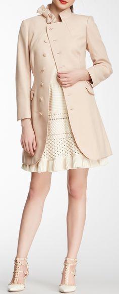 Peach wool coat