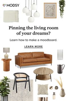 What's a moodboard? It's where you collect imagery that inspires you. Learn how to make one now. Boho Living Room, Home And Living, Living Room Decor, Living Spaces, Bedroom Decor, Living Room Inspiration, My New Room, Apartment Living, Home Interior Design