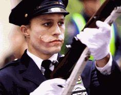 Heath Ledger, from the movie 'The Dark Knight', as the Joker.
