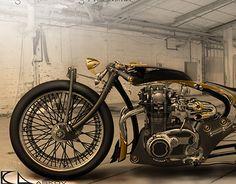 YAMAHA xs650 -like the exhaust