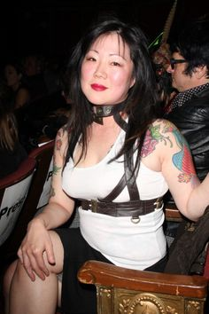 "Margaret Cho ""Dont pluck it, fuck it"" I love her! Margaret Cho, Chris Isaak, All American Girl, Quentin Tarantino, Pulp Fiction, Albert Einstein, Comedians, Love Her, Singer"