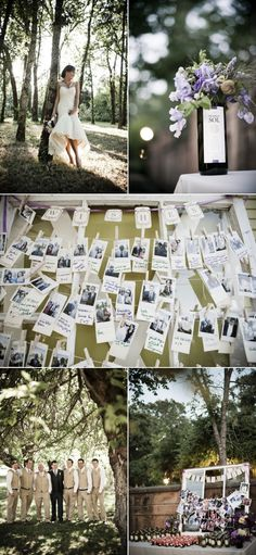 thats a good idea having a little card to write on and pinning that behind the polaroids... although increased chance of losing it