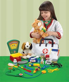 Your little one will enjoy hours of imagination-sparking, creativity-nurturing pretend play with this veterinarian play set. CHOKING HAZARD: Small parts. Not for children under 3 years So Little Time, Little Ones, Cute Babies, Baby Kids, Baby Boy, Christmas Deals, Santas Workshop, Kits For Kids, Pretend Play
