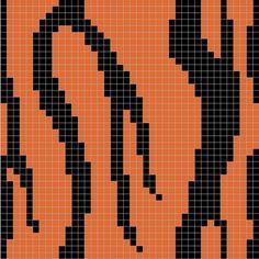 Ravelry: Tiger stripes pattern by Melanie Nordberg Tapestry Crochet Patterns, Fair Isle Knitting Patterns, Crochet Bedspread, Knitting Charts, Knit Patterns, Cross Stitch Freebies, Counted Cross Stitch Patterns, Mochila Crochet, Filet Crochet Charts