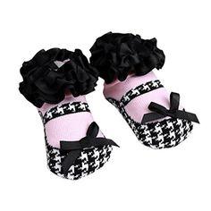 Yistu Bébés filles Chaussettes les nouveau-nés Chaussettes pour Princesse Cadeaux d'anniversaire de vacances (4.5″, Noir 2)