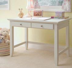 Amazon.com - Home Styles 5530-16 Naples Student Desk, White Finish - Home Office Desks
