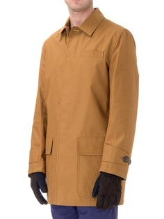 Car Coat Lawford Ochre OSJ282 | Gifts for the man who has everything - Coats & Jackets - Clothing - Raincoats - Oliver Spencer