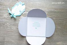 Karte aus Kreisen Stampin Up Baby Kirschblüte Aquamarin zur Geburt Fürs Baby