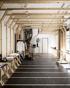 Bare beams in a shop. La boutique des Bains |MilK decoration