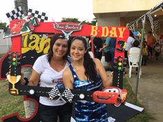 Disney cars birthday photo booth