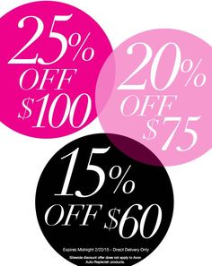 AvonDiscount Code - Save up to 25% Avon Discount Code - Pick your Discount- Get 15% off your $60 online Avon order, 20% off your $75 online Avon order, or 25% off your $100 online Avon order when you use Avon coupon code: TIER25at http://eseagren.avonrepresentative.com. Expires: midnight EST