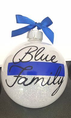 blue family ornament
