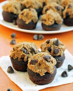 Cupcake Recipes : Recipe ReDux - Chocolate Cupcakes with Cookie Dough Frosting.