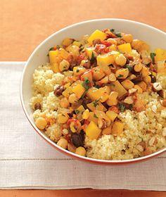 Butternut Squash with Cumin Couscous - an autumn vegetarian favorite... great at Thanksgiving