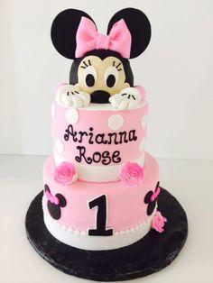 Minnie Mouse | Pink | First Birthday | Gallery | Sugar Divas Cakery | Orlando | Cupcakes | Custom Cakes www.sugardivascakery.com