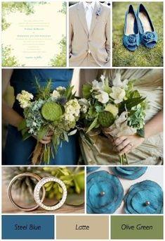 Olive Green & Blue Wedding by lidegaga