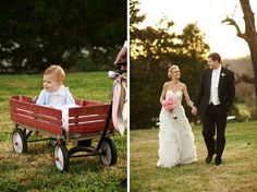 So sweet! That dress is gorge.