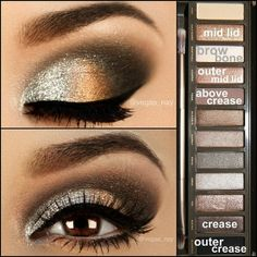 Smoky eye , using Urban Decay's Naked Palette 2.