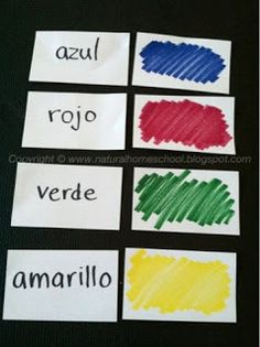 Unit 2 colors The Natural Homeschool: Spanish Lessons for Preschoolers and Kindergartners (Part Spanish Lessons For Kids, Spanish Basics, Spanish Lesson Plans, Spanish Activities, French Lessons, Vocabulary Activities, Spanish 101, Spanish Website, Color Activities