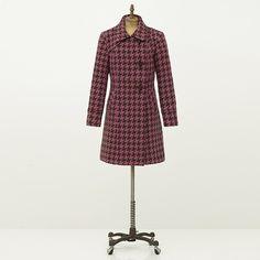Trinity Houndstooth Coat