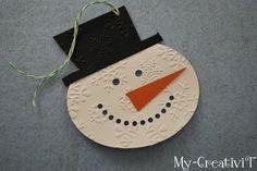 Snowman Gift Tag tutorial @My-CreativiT