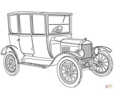 1919-ford-model-t-coloring-page.png (933×734)