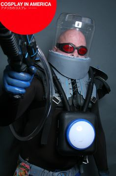 This is a pretty good Mr. Freeze Cosplay, though I would like the head to be blue, but as is, its pretty...COOL