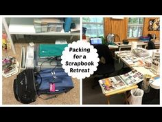 What I Packed for a Scrapbook Retreat! Keeping it Simple & Realistic! - YouTube