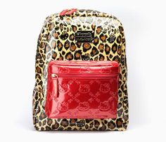 Hello Kitty Backpack: Red Leopard