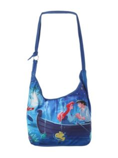 Disney The Little Mermaid Ariel & Eric Boat Hobo Bag