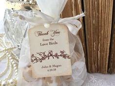 Birds Favor Bags Bird Wedding Love Organza Etsy Seed Favors