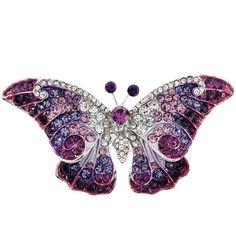 Purple Butterfly Pin Brooch
