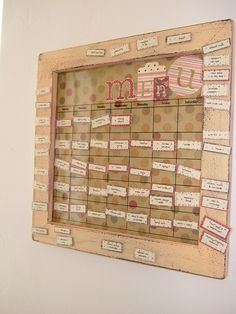 diy magnetic menu board