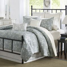 I pinned this Chelsea Queen Comforter Set from the Style Study event at Joss & Main! Bring classic country elegance to your bedroom with the Chelsea Comforter Set. Showcasing a delicate blue paisley design...