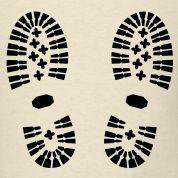 Shoes, Shoe Print, Hiking T-Shirts Design