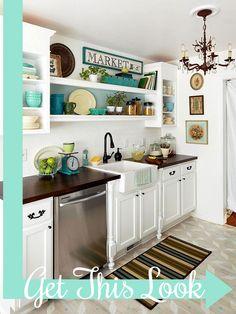 5 Tips to Maximize Your Kitchen Space open shelves, tiny kitchens, small kitchens, kitchen interior, design kitchen, kitchen space, farm sinks, white cabinets, open shelving