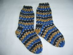 Hand Knit Children's Socks Size 9 Made in by SpruceCottageKnits, $15.00