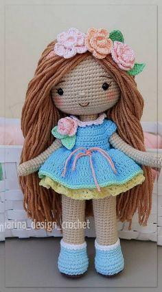 Crochet Fairy, Easter Crochet, Crochet Amigurumi Free Patterns, Crochet Flower Patterns, Crochet Toys, Easy Beginner Crochet Patterns, Crochet Doll Clothes, Amigurumi Doll, Crochet Projects