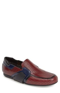 Prada 'Runway' Perforated Loafer (Men) available at #Nordstrom