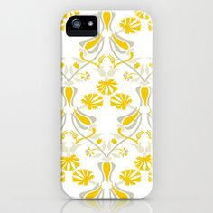 Tulip And Carnation-Yellow iPhone & iPod Case by Figen Topbaş  - $35.00