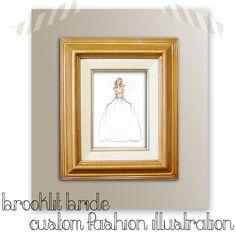 Brooke Hagel- custom #Bride #FashionIllustration - a look at the custom bridal portrait process.