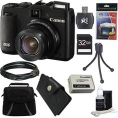 Canon PowerShot G16 12.1 MP CMOS Digital Camera with 5x Optical Zoom and 1080p Full-HD Video Ultimate Bundle With 32GB Secure Digital High Speed Memory Card, Digpro Deluxe Case, Extra Battery, Card Reader, Tripod , Card Wallet , HDMI Cable , Screen Pro  http://www.lookatcamera.com/canon-powershot-g16-12-1-mp-cmos-digital-camera-with-5x-optical-zoom-and-1080p-full-hd-video-ultimate-bundle-with-32gb-secure-digital-high-speed-memory-card-digpro-deluxe-case-extra-battery-card-re-2/