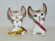 Vintage Pink & Yellow Miss Mouse Beauty Pageant Queens Salt & Pepper Shaker Set FOR SALE • $15.00 • See Photos! Money Back Guarantee. This is a Vintage Pink & Yellow Miss Mouse Beauty Pageant Queens Salt and Pepper Shaker SetMade in Japan. Condition:The shakers are in great condition and have no chips, cracks 231932114062