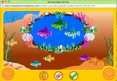 Sorting Under the Sea is an activity where students sort fish by color, size, and pattern.