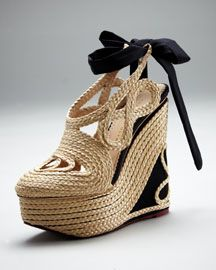 charlotte olympia rapunzel wedge $1495 not sure i could walk in these!