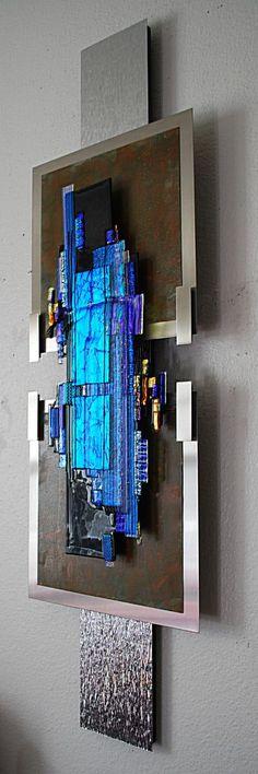 """Contemporary Sculpture - """"The Big Blue"""" (Original Art from Elizabeth Dunlop Studios) #abstractart"""
