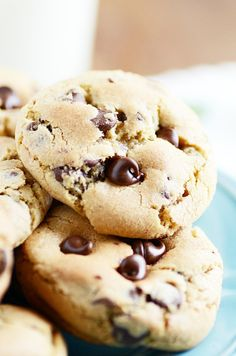 Loving this recipe for simple, just plain good chocolate chip cookies. This is a great base recipe for adding M&Ms, white chips, nuts, and other yummy stuff!
