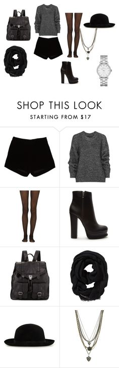"""""""Black"""" by fashion-classy1 on Polyvore featuring moda, Andrew Gn, Belstaff, Fogal, Forever 21, Proenza Schouler, Old Navy, Ettika y Marc by Marc Jacobs"""